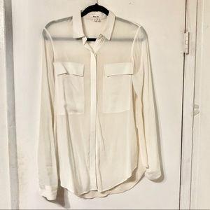 Helmut Lang Sheer Button Down Shirt Size Small